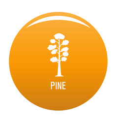 pine tree icon orange vector image
