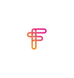 Pixel letter f logo icon design vector