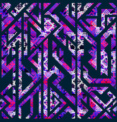 purple geometric seamless pattern vector image