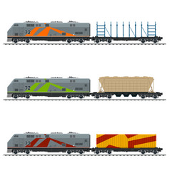 railway and container transport vector image