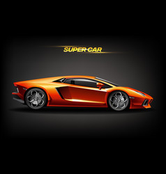 realistic golden super car design concept bright vector image