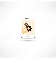 Repairing mobile phone color vector