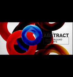 rings abstract background vector image