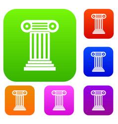 roman column set collection vector image
