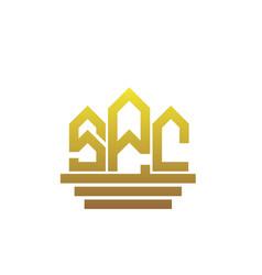 S p c real estate logo designs vector