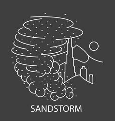 Sand storm natural disaster vector