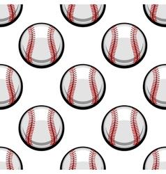 Seamless pattern baseball balls vector