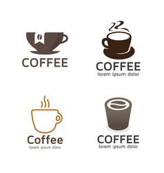 set coffee logos vector image