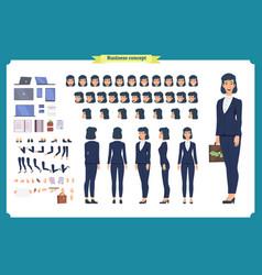 Set of businesswoman character design vector