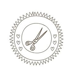 Sewing scissors symbol vector image
