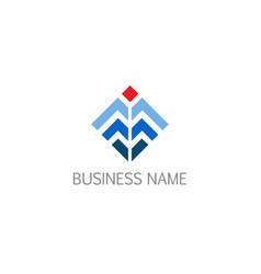 shape line square technology company logo vector image