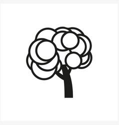simple minimal black tree icon symbol style vector image