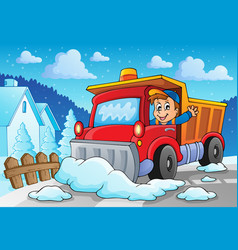 Snow plough theme image 2 vector