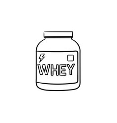 sport nutrition hand drawn outline doodle icon vector image