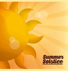 Summer solstice vacations vector