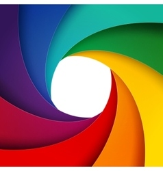 Swirly rainbow paper layers background vector image