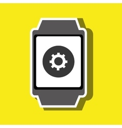 Technology applications smartwatch vector