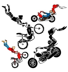 Teens on motorbikes vector image