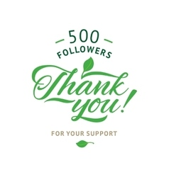 Thank you 5000 followers card ecology vector