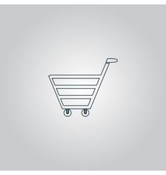 trolley market vector image