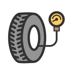 Tyre air pressure checker vector