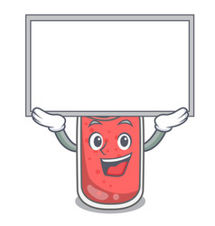 Up board strawberry smoothie character cartoon vector