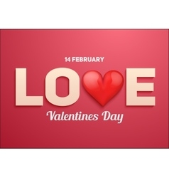 Valentines day background with Love and heart vector image