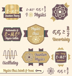 Vintage Physics Class Labels and Icons vector