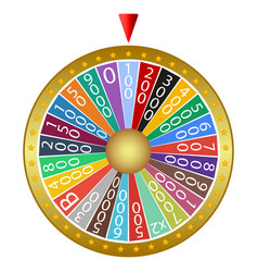 Wheel fortune on a white background vector