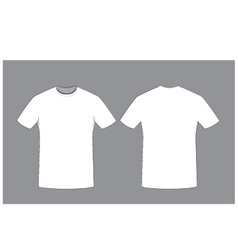 White man t-shirt template front and back sides vector