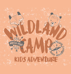 wild land camp kids adventure vector image
