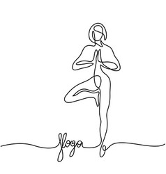 Woman doing exercise in yoga pose vector