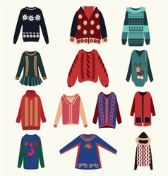 Womens sweaters vector