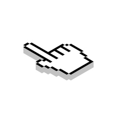 Work with cursor icon isometric 3d style vector