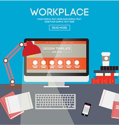 Workplace design vector image