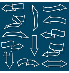 Arrows from Paper outline vector image vector image