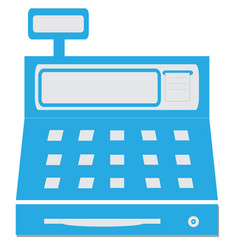 cash register with a digital display vector image