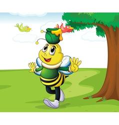 honey bee carrying honey vector image