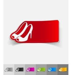 realistic design element shoes vector image