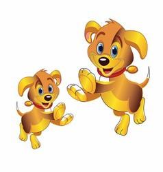 3D cartoon dog clipart vector image vector image