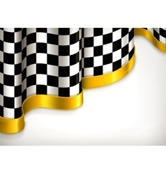 Checkered invitation background vector image