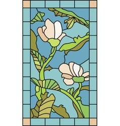 Floral Stained Glass vector image vector image