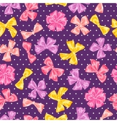 Seamless pattern with decorative delicate satin vector image