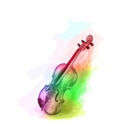 Violin in iridescen colours vector image vector image