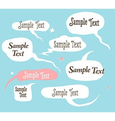 Collection of hand draw speech bubbles vector image