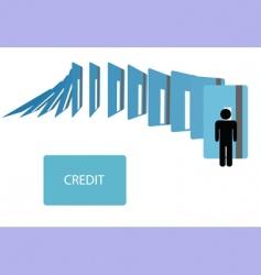 credit card debt vector image