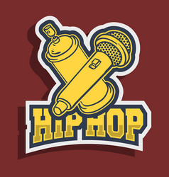 Hip hop sticker design with graffiti paint can vector