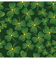 seamless shamrock vector image vector image