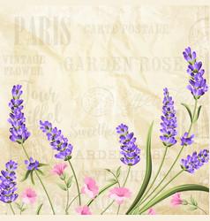 summer flowers garland vector image vector image