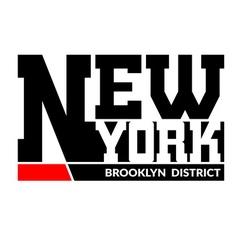 T shirt typography New York Brooklyn vector image vector image